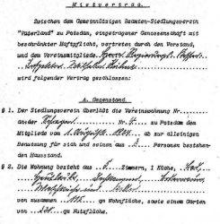 Mietvertrag von 1924